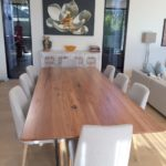 Timber top dining table